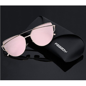 Óculos De Sol Love Punch Gatinha Reflexivo Rosa Feminino 1619ce2346