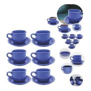 Jogo Xicaras Com Pires Café De Manhã Chá Com Pires Cerâmica