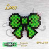 Gancho Para El Cabello. Lazo. Perler Beads. Verde