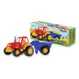 Tractor Grande C/ Acoplado Rural Duravit Juguetes Juegos 213