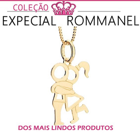 Colar Pingente Casal Namorados Joia Rommanel 531314 541829