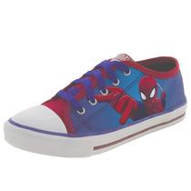 Tênis Infantil Masculino Homem Aranha Azul/vermelho Disney -