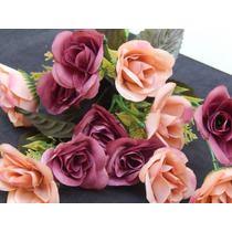 Buque De Mini Rosas Artificiais - Consulte Frete