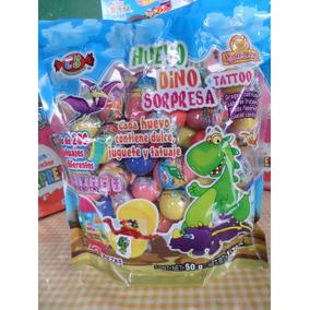 Mini Huevo Sorpresa De Dinosaurios Bolsa Con 50pz Plastico