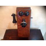 Antiguo Teléfono De Madera Western Eléctric