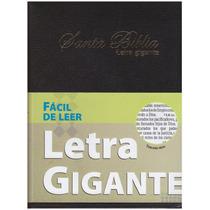 Biblia Letra Gigante Imitación Piel Negro Indice Rvr60