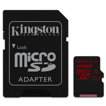 Memoria Micro Sd Xc 128gb Kingston Cl 10 C/adapt Sdca3/128gb