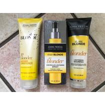 Kit John Frieda Go Blonder (shampoo+cond +spray Clareador)