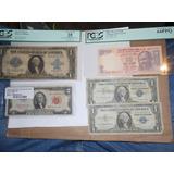 Billetes Certificados Plata Sello Rojo Lote Y Super Extras