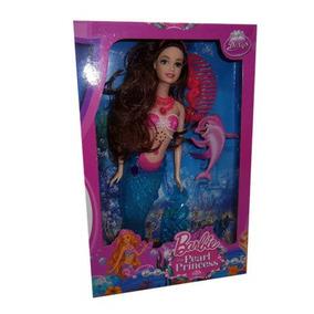 Juguetes Muñeca Tipo Barbie Sirena Con Accesorios.
