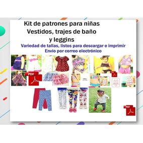 Kit Patrones Niñas Blusas, Vestido ,traje De Baño Y Leggins