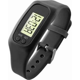 Reloj Podómetro Contador De Pasos Negro