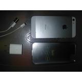 Iphone 5s Silver 16gb Para Repuesto Placa Mala Con Accesorio