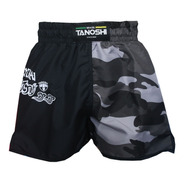 Shorts Muay-thai Camuflado Cinza Half Tanoshi