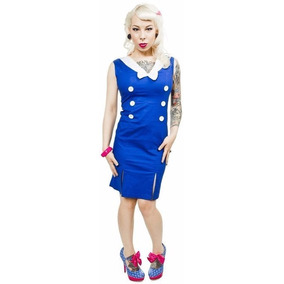 Vestido Sailor Marinera Sourpuss Rockabilly Retro Pin Up