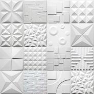 Placas 3d Decorativa De Parede Revestimento De Pvc 3d 50x50