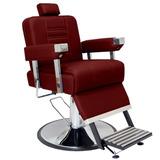 Cadeira Barbeiro Reclinável Detroit Pé Retrátil Frete Grátis