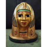 Estatua De Cleopatra, Adorno Egipcio. Mascara De Yeso
