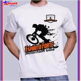 Camiseta Camisa Estampa Moutain Bike Personalizada Bicicleta