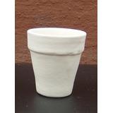 Macetas De Ceramica Blanca Pack 24u. Nro 5x4 Directo Fabrica
