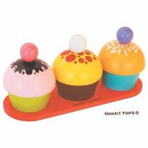 Brinquedo De Madeira Coleção Comidinhas Cozinha De Cupcak...