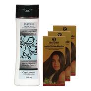 Kit Shampoo E 3 Loção Tônica Capilar - Combate Queda Cabelo