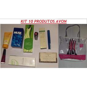 Maquiagem Avon E Perfume Batom Máscara Rimel Kit Beleza