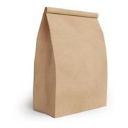 Embalagem Saco Papel Kraft Delivery Fast Food 100 Unid. 5kg