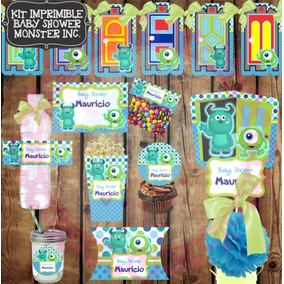 Kit Imprimible Baby Monster Inc Cumpleaños Fiesta Etiquetas