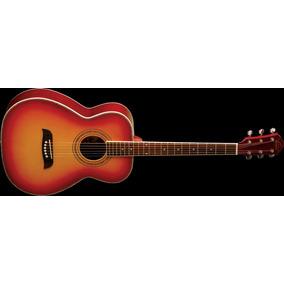Oscar Schmidt Guitarra Acustica Cereza Sombreado Modelo Of2
