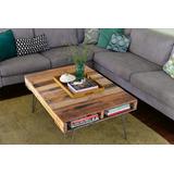 mesas ratonas artesanales con palets y patas hairpin - Mesas Con Palets
