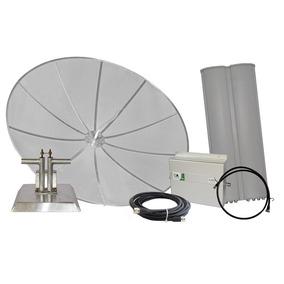 Kit Repetidor Celular 850 Mhz 1w Antenas 26 Dbi E 15/17 Dbi