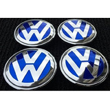 Centros De Rin Vw Silver Racing 55mm Original Volkswagen R