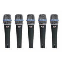 Fg Kit De Microfones P/ Bateria Arcano Bt-57d-kit = Beta 57
