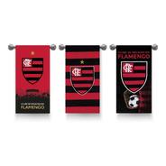 Kit 3 Toalhas Flamengo Banho / Praia Aveludada Oficial