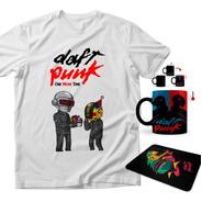 Playera Daft Punk + Taza Mágica + Mouse Pad Robots
