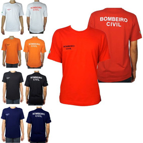 Camiseta Bombeiro Civil Com Qra - Nome Bordado - Todas Cores
