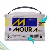 Bateria Automotiva Moura 60ah Ampéres M60ad