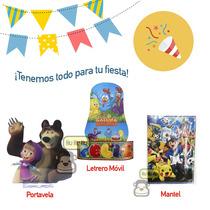 Mantel, Portavela O Adorno De Feliz Cumpleaños - Fiesta!