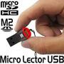 Lector De Micro Tarjetas Sd/m2 Negra Con Rojo 18-3008