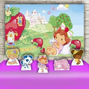 Kit Decoração Prata Festa Infantil Moranguinho Baby