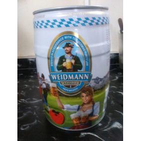 Barril Cerveza Weidmann 5l.importada Alemania ,ret Caballito