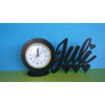 40 Suvenir C/ Reloj Despertador Y Nombre Personalizado