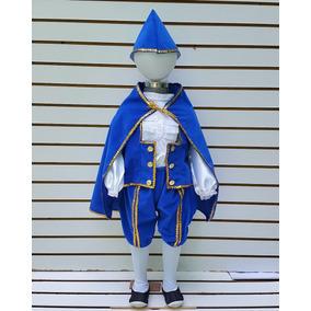 Disfraz De Principe Rey Primavera Azul Para Niños Festival