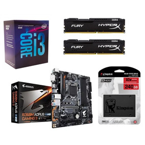Kit B360m Aorus Gaming 3 + I3 8100 + 2x 8gb 2400 + Ssd 240gb