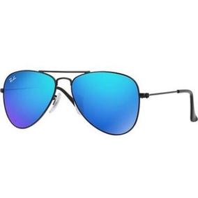 Oculos Rayban Aviador Azul Espelhado - Óculos no Mercado Livre Brasil ea208ce155