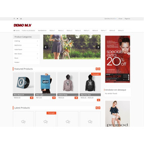 Site Wordpress Completo Multivendor E-commerce Solution Word
