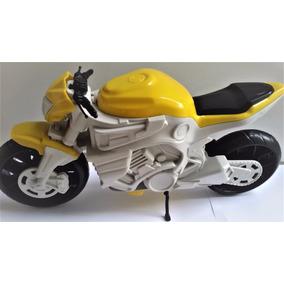 Moto Naked Grande Plástica Resistente 35cm - Presente Natal