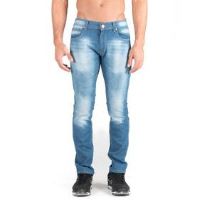 Pantalon De Mezclilla Caballero, Slim Rigido