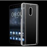 Capa Silicone Transparente Celular Nokia 6 Tela 5.5 Mwx